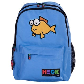 Ed Heck Little Fish Blue Polyester 13-inch Laptop Backpack