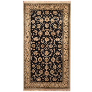 Herat Oriental Persian Hand-knotted Nain Wool & Silk Rug (2'10 x 5'4)
