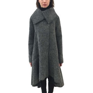 ZAC Zac Posen 'Delphine' Women's Grey Alpaca Wool Coat