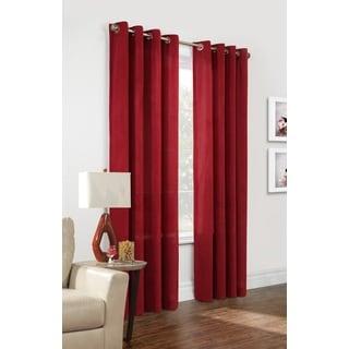 Regent Velour Pinwale Window Curtain Panel