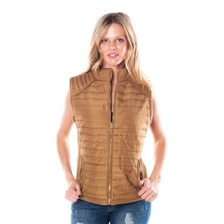 Special One Ladies Faux-fur Zip-up Elastic Side Gathering Vest