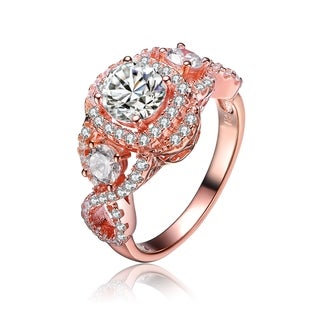 Collette Z Rose Gold Overlay Cubic Zirconia Royal Ring