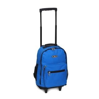Everest Royal Blue 17-inch Wheeled Backpack
