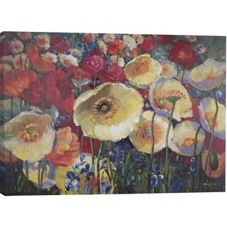 Hobbitholeco 'Floral Spots' 30x40 Canvas Wall Art