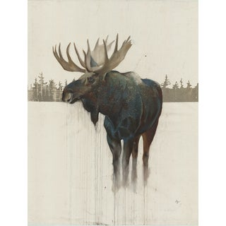 Hobbitholeco 'Golden Moose' 32x48 Art Print