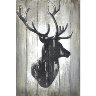Hobbitholeco. 'Deer Face Horns I' 24-inch x 36-inch Wrapped Canvas Art