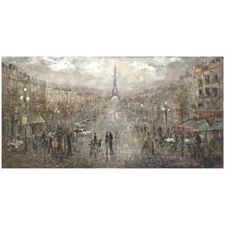 Hobbitholeco. 'Paris Landscape' 24x48 Wall Art