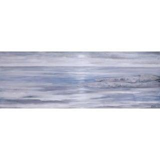 Hobbitholeco 'Sea Landscape I' Blue Canvas Artwork
