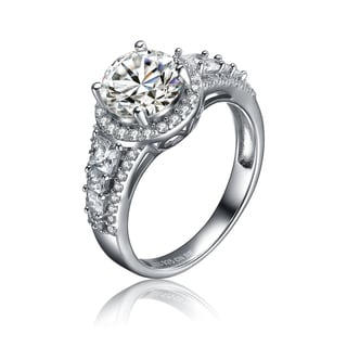 Collette Z Sterling Silver Clear Cubic Zirconia Regal Ring