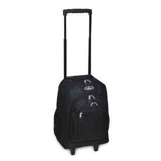Everest Black Polyester 18-inch Rolling Backpack