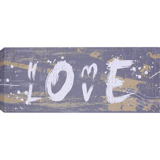 Hobbitholeco 'Love' Gallery-Wrapped Canvas (8 x 20)