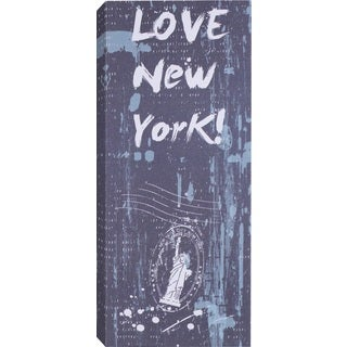 Hobbitholeco. 'Love New York' Wrapped Canvas Art (8 x 20)