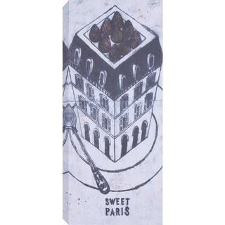 Hobbitholeco' Sweet Paris' Multicolor Canvas Artwork