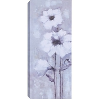 Hobbitholeco 'White Flowers' Gallery-wrapped Canvas Wall Art