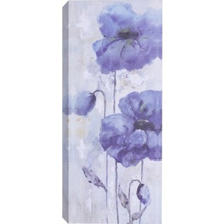 Hobbitholeco 'Blue Flowers' Canvas Wall Art