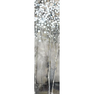 Hobbitholeco 'Tree Flowers IV' Grey/ White Canvas Artwork