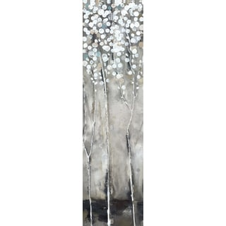 Hobbitholeco 'White Tree Flowers III' Wrapped Canvas Art