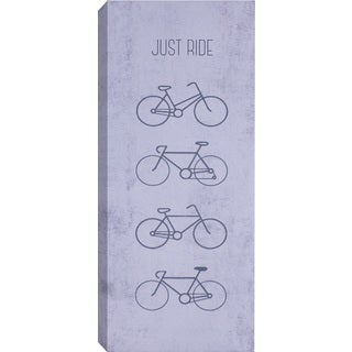 Hobbitholeco 'Just Ride' Canvas Wall Art