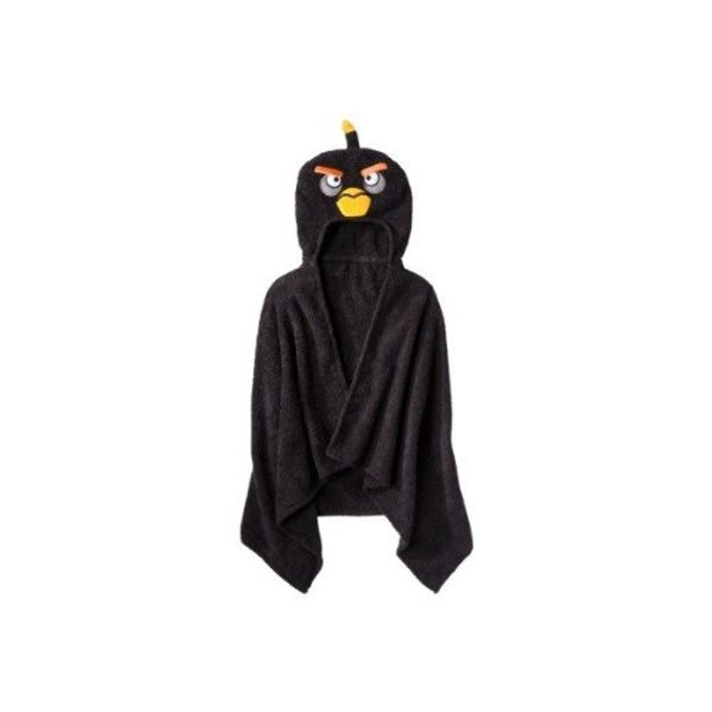 Angry Birds Black Hooded Towel, Size S 4 - 6 - S (4 - 6) ...