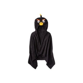 Angry Birds Black Hooded Towel