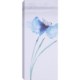 Hobbitholeco 'Blue Tall Flowers III' Canvas Wall Art