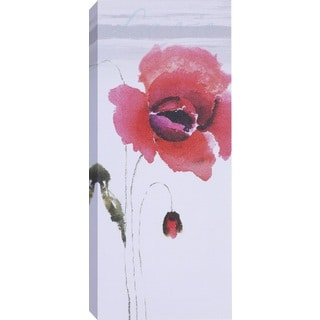 Hobbitholeco 'Red Tall Flowers II' Multicolored Canvas Artwork