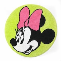 Disney Minnie Mouse Neon Bath Rug