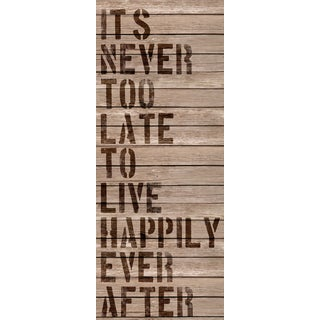 Hobbitholeco 'It's Never Too Late' Canvas Wall Art