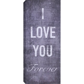 Hobbitholeco. 'I Love You Forever' Wrapped Canvas Art