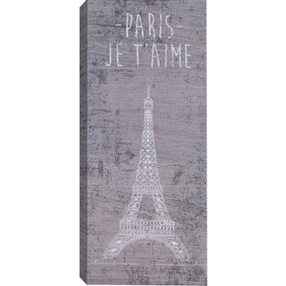 Hobbitholeco. 'Paris' Gallery Wrapped Canvas Wall Art