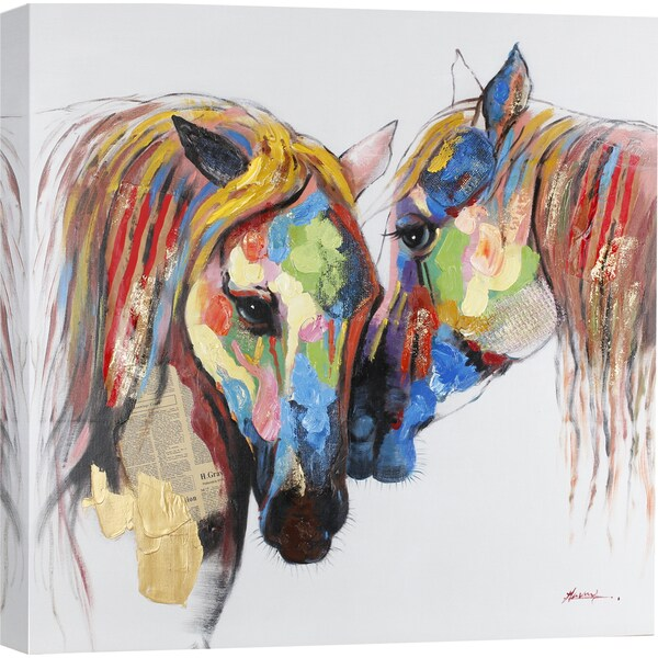 Shop ArtMaison Canada. \'Colored Horses\' Wall Art - On Sale - Free ...