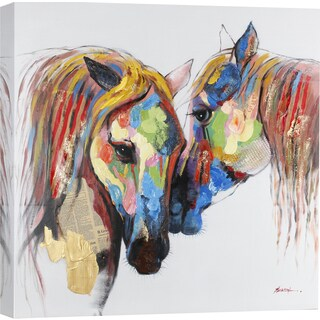 ArtMaison Canada. 'Colored Horses' Wall Art