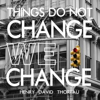 Hobbitholeco. 'Things Do Not Change' Wrapped Canvas Art