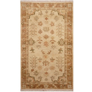 Herat Oriental Indo Hand-knotted Oushak Wool Rug (3' x 4'9)