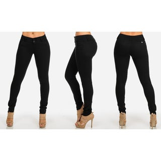 Women's Classic Butt Lifting Twill Skinny Pants