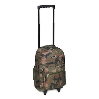 Everest 17-inch Woodland Camo Wheeled Backpack