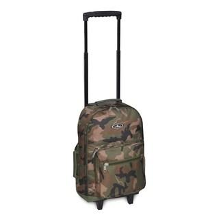 Everest 17-inch Woodland Camo Wheeled Backpack