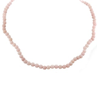 One-of-a-kind Michael Valitutti Palladium Silver Pink Calcite Bead Toggle Necklace