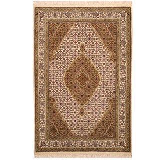 Herat Oriental Indo Hand-knotted Tabriz Wool & Silk Rug (3' x 5')