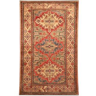 Herat Oriental Afghan Hand-knotted Kazak Wool Rug (3' x 5')