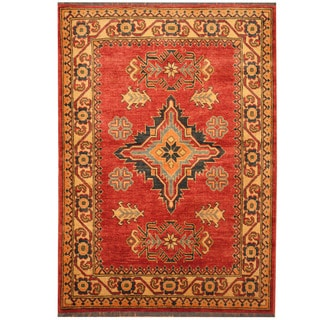 Herat Oriental Afghan Hand-knotted Tribal Kazak Wool Rug (3'4 x 4'1)