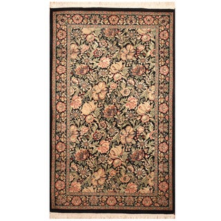 Herat Oriental Pakistani Hand-knotted William Morris Wool & Silk Rug (3' x 5')