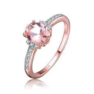 Collette Z Rose Gold Overlay Champagne Cubic Zirconia Ring