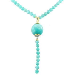 One-of-a-kind Michael Valitutti Palladium Silver Drill Amazonite Bead Necklace