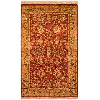 Herat Oriental Indo Hand-knotted Mahal Wool Rug (3'2 x 5')