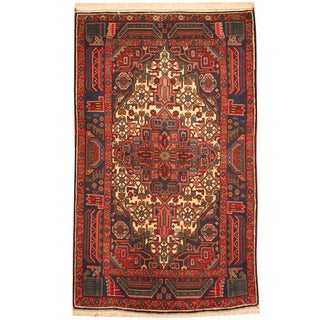 Herat Oriental Persian Hand-knotted Tribal Hamadan Wool Rug (3'5 x 5'8)