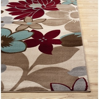 Fireside Multicolored Floral Area Rug (7'6 x 9'5)