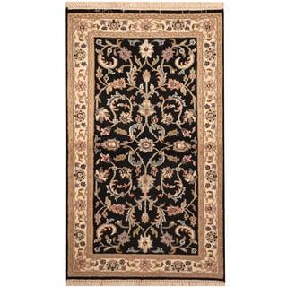 Herat Oriental Indo Hand-knotted Kashan Wool Rug (3' x 5')
