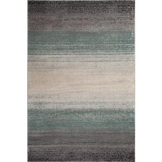 Fireside Blue, Grey, and Beige Runner Rug (2'2 x 7'3)