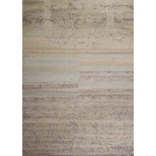 Shop Fireside Blue, Beige, And Brown Area Rug